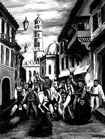 Tableau du massacre